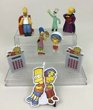 Simpsons Toys Lot 8pc Burger King School Supplies Homer Bart Marge Calculator