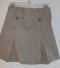 @Class 10 Khaki flat front kick pleat adjust waist skort cotton blend EUC