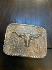 Edward Bohlin Silver Belt Buckle Made For John T. Reynolds For 1 1/5� (1.5) Belt