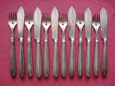 WMF Bead Edging I/0 Silver Plated Fish Cutlery 6 People 12 Pieces