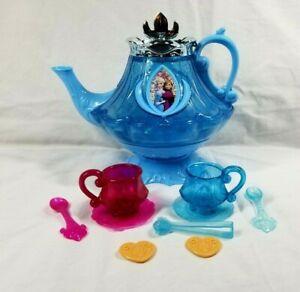 Disney Frozen Tea Set 10Pc Girls Pretend Tea Time Play Kitchen Toy Ages 3+