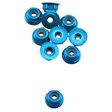 OFNA Flanged Aluminum 2mm Lock Nuts (10) Blue, 10990