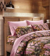 6 PC THE WOODS PINK CAMO SHEET SET SHEETS AND PILLOW CASES FULL SIZE CAMO