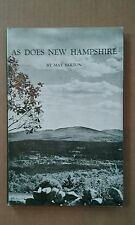 AS DOES NEW HAMPSHIRE by May Sarton, Signed Hardcover w Dust jacket 1967