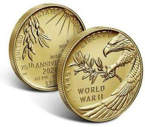 End of World War II 75th Anniversary 24-Karat Gold Coin [SEALED]