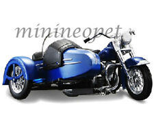 MAISTO 03175 HARELY DAVIDSON 1958 FL HYDRA GLIDE w SIDE CAR MOTORCYCLE 1/18 BLUE