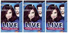 Schwarzkopf LIVE Intense 046 Cyber Purple Fade Long Lasting Hair Dye x 3