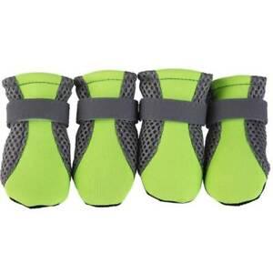 4Pcs Non-slip Puppy Pet Dog Shoes Waterproof Boots Booties Socks Jacket Winter