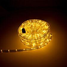 10m LED Lichtschlauch Lichterschlauch Licht Leiste Schlauch Außen Innen warmweiß