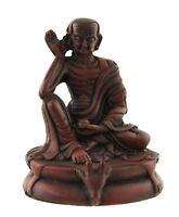 Estatua Tibetano Jetsun Milarepa 10cm Burdeos San Budista Tibet 25538