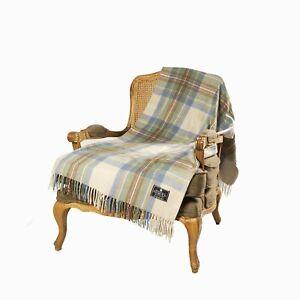 House of Balmoral Wool Blanket - Stewart Muted Blue