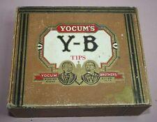 VINTAGE - YOCUM'S -Y-B TIPS YOCUM BROTHERS,  CIGAR BOX 50  PENNA. U.S. EST. 1879