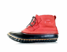 SOREL Boots 8 Out N About 8 Brick Red Waterproof Duck Boots Chelsea *PRIMO*  8