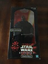 "STAR WARS 12"" INCH DARTH MAUL WITH LIGHTSABER DOLL ACTION FIGURE EP1"