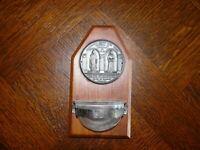 Alter Weihwasserkessel Weihwasserbehälter über 80 Jahre alt Jesus und Maria