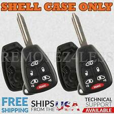 2 For 2004 2005 2006 2007 Dodge Grand Caravan 6b Remote Shell Case Car Key Cover