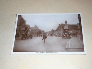 EARLY 1921 REAL PHOTO POSTCARD - HIGH STREET, IRTHLINGBOROUGH, NORTHAMPTONSHIRE