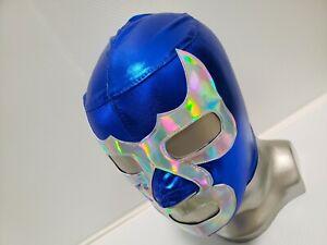 BLUE WRESTLING MASK LUCHADOR COSTUME WRESTLER LUCHA LIBRE MEXICAN MASKE