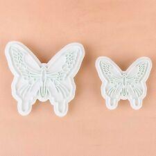 Neuf 2pcs Papillon Forme Gâteau Fondant Décoration Sucre Cookie Cutters Moule