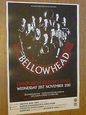 Bellowhead - Edinburgh nov.2012 concert tour gig poster