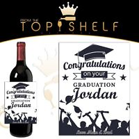 personalised wine champagne prosecco bottle label graduation congratulations