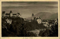 Füssen am Lech Allgäu AK ~1923 datiert Teilansicht mit Kloster und Hohes Schloß