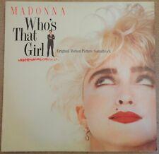 Madonna - Who's That Girl (Soundtrack) original 1987 vinyl LP