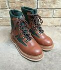 ORVIS Fly fishing wading boots Brown Green felt Sole Lace up Men's 8 US EUC