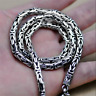4mm Solid 925 Sterling Silver Byzantine Bali Chain Necklace Handmade Jewelry