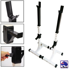 2x Squat Rack Home Gym Weight Lifting Barbell Stand Fitness  Exercise OYSW59300