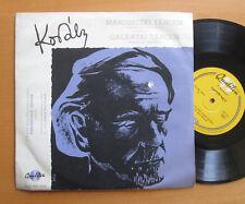 "Kodaly Marosszeki Galantai Dances Tancok Qualiton 10"" Vinyl HLP MK 1500"
