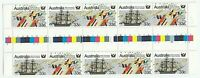 1986 10 x 33c Stamps '50th Anniversary of S.A.' - MNH se-tenant Gutter Strip