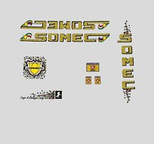 Somec Bicycle Decals, Transfers, Stickers - Yellow n.102