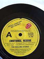 THE ROLLING STONES - - EMOTIONAL RESCUE - - Rare PROMO - -1980 Australian Press