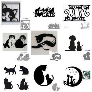 Cat Metal Cutting Dies Animal Stencil DIY Scrapbooking Card Decorative Embossing