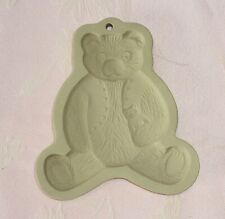 Hill Brown Bag Cookie Art 1984 TEDDY BEAR Shortbread Mold Stoneware NICE