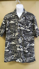 Trader Bay Adult L Hawaiian Shirt, Button-Front, Short Sleeves
