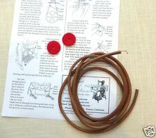 """Treadle Sewing Machine Belt 69"""" long 3/16""""  Directions and a Red Felt Leather"""