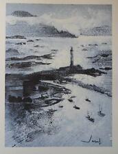 Jean JACUS - Norvège - Port en hiver  - gravure signée #322ex + justificatif