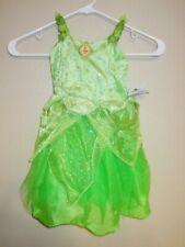 NEW GIRLS XXS 3 DISNEY PARKS TINKERBELL GREEN COSTUME DRESS HALLOWEEN PARTY $60