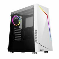 NEW! Antec Nx300 Atx Gaming Case With Window Tempered Glass Argb Rear Fan & Fron