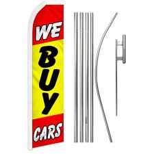 We Buy Cars Swooper Advertising Feather Flutter Flag Pole Kit Dealership