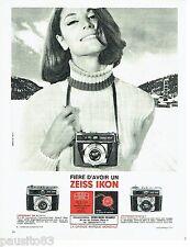 PUBLICITE ADVERTISING 106  1966  Zeiss Ikon   appareils photo Contessamat