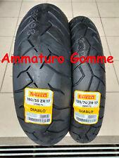 NEW COPPIA 120/70 17 180/55 17 DOT/ANNO 2020! +OMAGGIO PIRELLI DIABLO GOMME MOTO