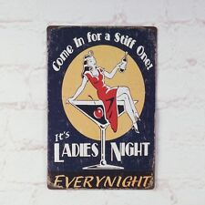 Antique It's Ladies Night Metal Tin Signs Of Light Bar Home Pub Wall Decoration