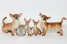 Miniature Ceramic Animals Chihuahua Figurine Statue for Decorative Collectibles