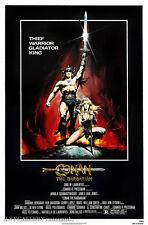 "Conan the Barbarian (Schwarzenegger) - Movie Poster - (24""x36"") - Free S/H"