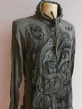 Ganesh Ganesha OM God  Men T Shirt Denim Wrinkled Cut  Hood Army L DG-12H