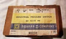 SQUARE D 9012  ACW-4 INDUSTRIAL PRESSURE SWITCH (New/Surplus)