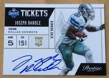 2013 Panini Football Joseph Randle Autograph Card